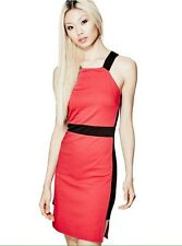G by Guess Lolani Knit Halter Dress, Red/Black, Juniors Size: XL