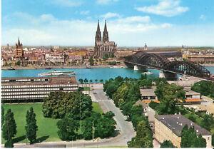 AK-Ansichtskarte-Koeln-Hohenzollernbruecke-amp-Dom-BRD