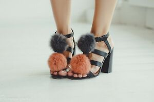 Fur Pom Pom Shoe Fluffy Ornaments Clips For Boots Fur Charm ... 8baca92bc2682