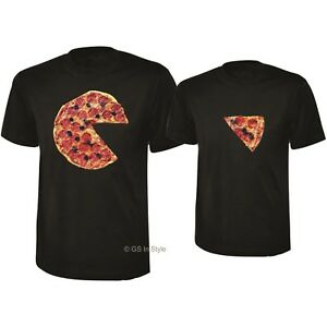 a41d053dc9 PIZZA T SHIRTS COUPLE SET FUNNY T-SHIRTS FOR COUPLE WEDDING PIZZA ...