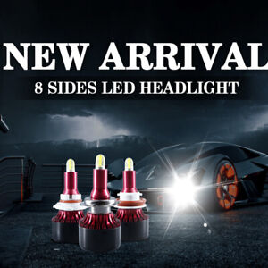 8-Sides-CSP-H11-H1-H3-H7-H8-H9-880-881-H27-LED-Headlight-9005-9006-5202-9012