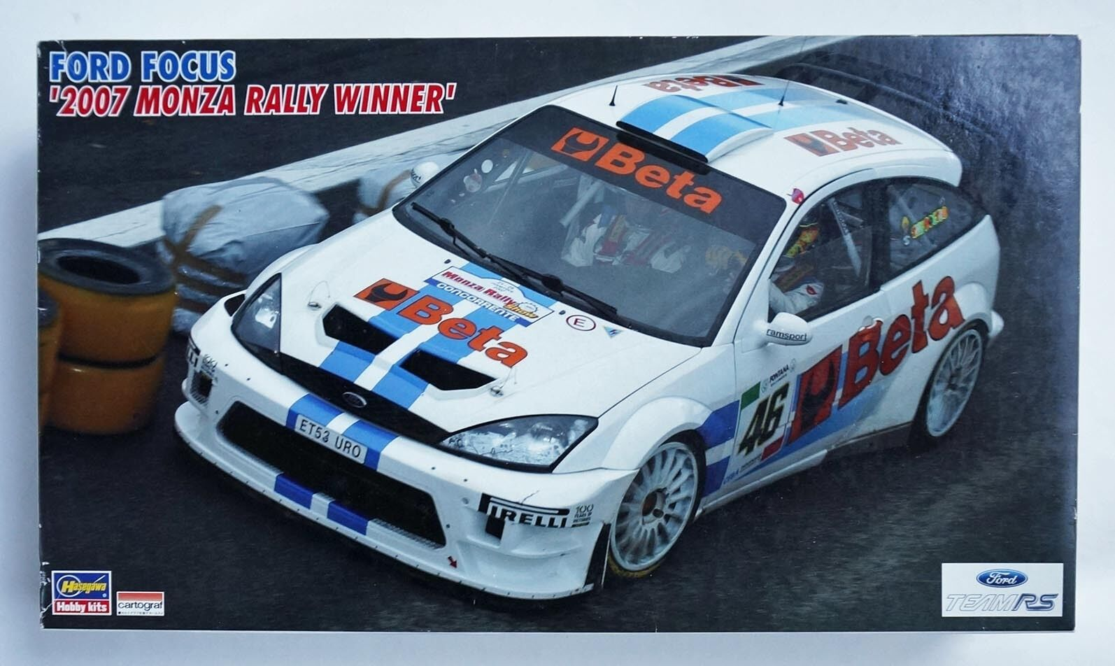 HASEGAWA 1 24 Ford Focus WRC 2007 Monza rally winner V.Rossi scale model kit