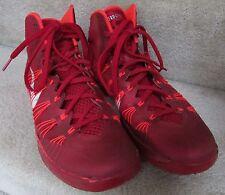 Men's Nike Hyperdunk 2013 Red Crimson Silver Basketball Shoes 584433-600 sz 10.5