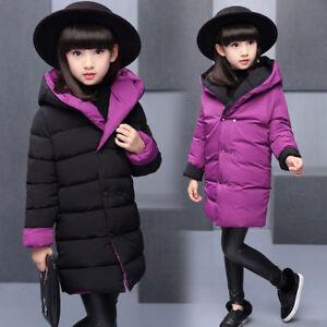 2020-Kids-Girls-Two-Wear-WINTER-Padded-Warm-Coat-Jacket-Outerwear