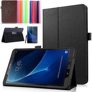 Samsung-Galaxy-Tab-A-10-1-T580-585-A6-Tasche-Leder-Imitat-Etui-Cover-Pen-Folie-2