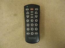 Radio Shack Remote Control Black Genuine OEM TX76102