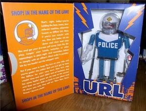 Futurama-URL-Police-Robot-Action-Wind-Up-Tin-Toy