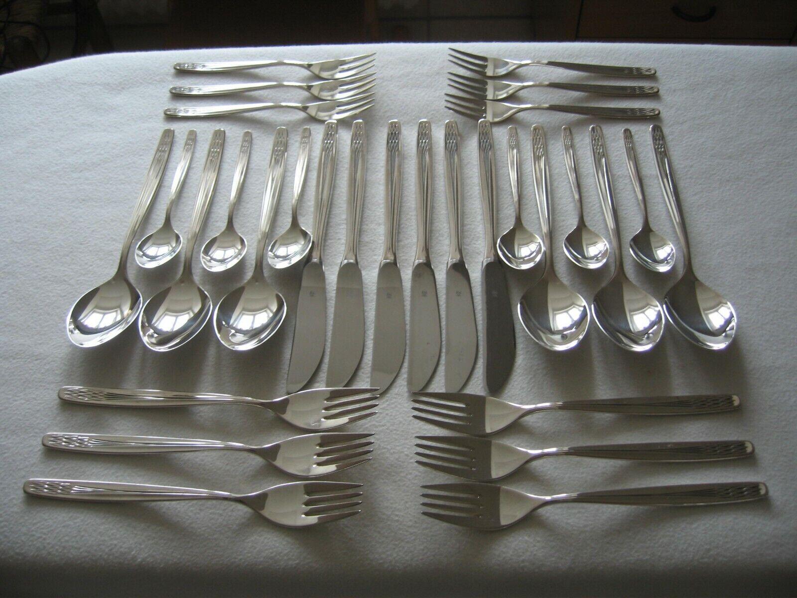 WMF Premiere 6 Kuchengabeln 15,9 cm 90er Silber versilbert Neuwertig