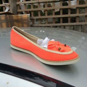 SIZE-5-EU-38-CORAL-DOROTHY-PERKINS-FLAT-SHOES-LOAFERS-RRP-23-BNWT
