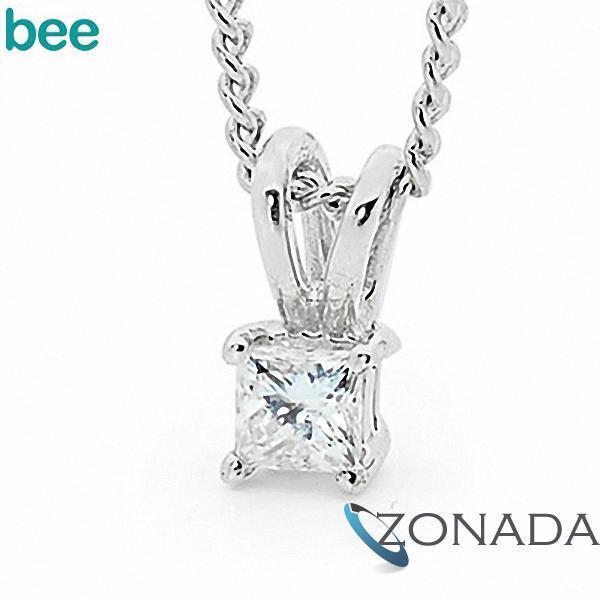 New Natural Diamond 9k 9ct Solid White Gold Drop Pendants W65505/B07