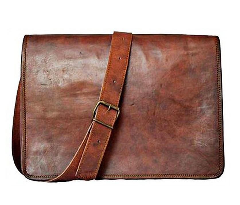 Neue Herren Ledertasche Vintage Satchel Messenger Man ALLE Laptop Aktentasche    | Mittel Preis