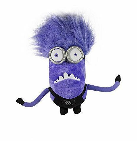 Officiel Méprisable Me Evil Purple Minion deux Eye Grande Peluche Jouet Doux Neuf Avec