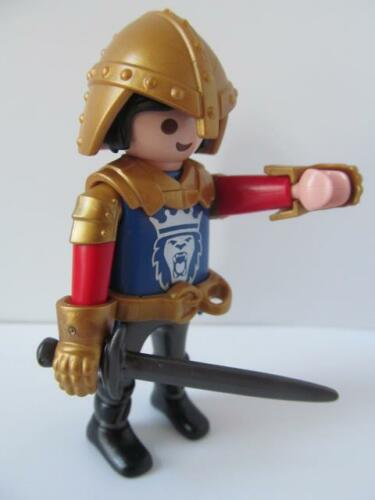 cheveux noir Playmobil Château Extra Figure NEUF Royal Lion Chevalier avec épée