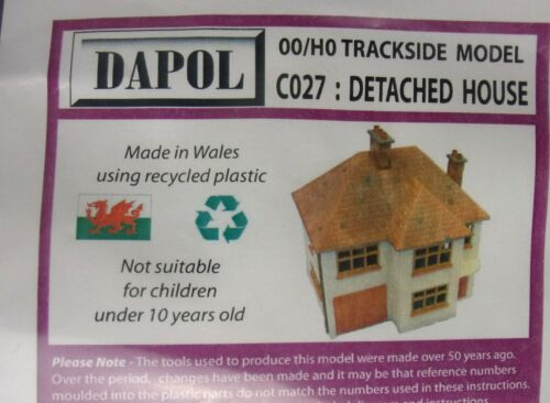 Dapol OO HO Trackside Model C027 Detached House kit new sealed