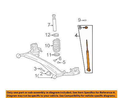 Scion TOYOTA OEM 04-06 xB Rear-Shock Absorber or Strut 4853059815