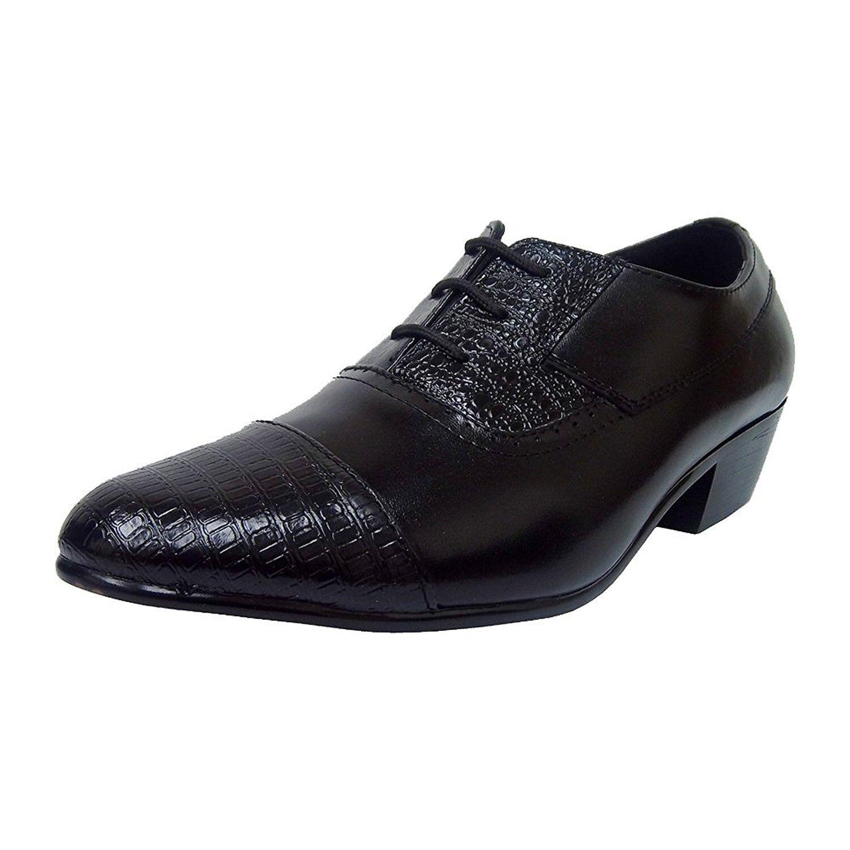 Ditalo By Globe 5635 Mens Black Lace Up Cuban Heels