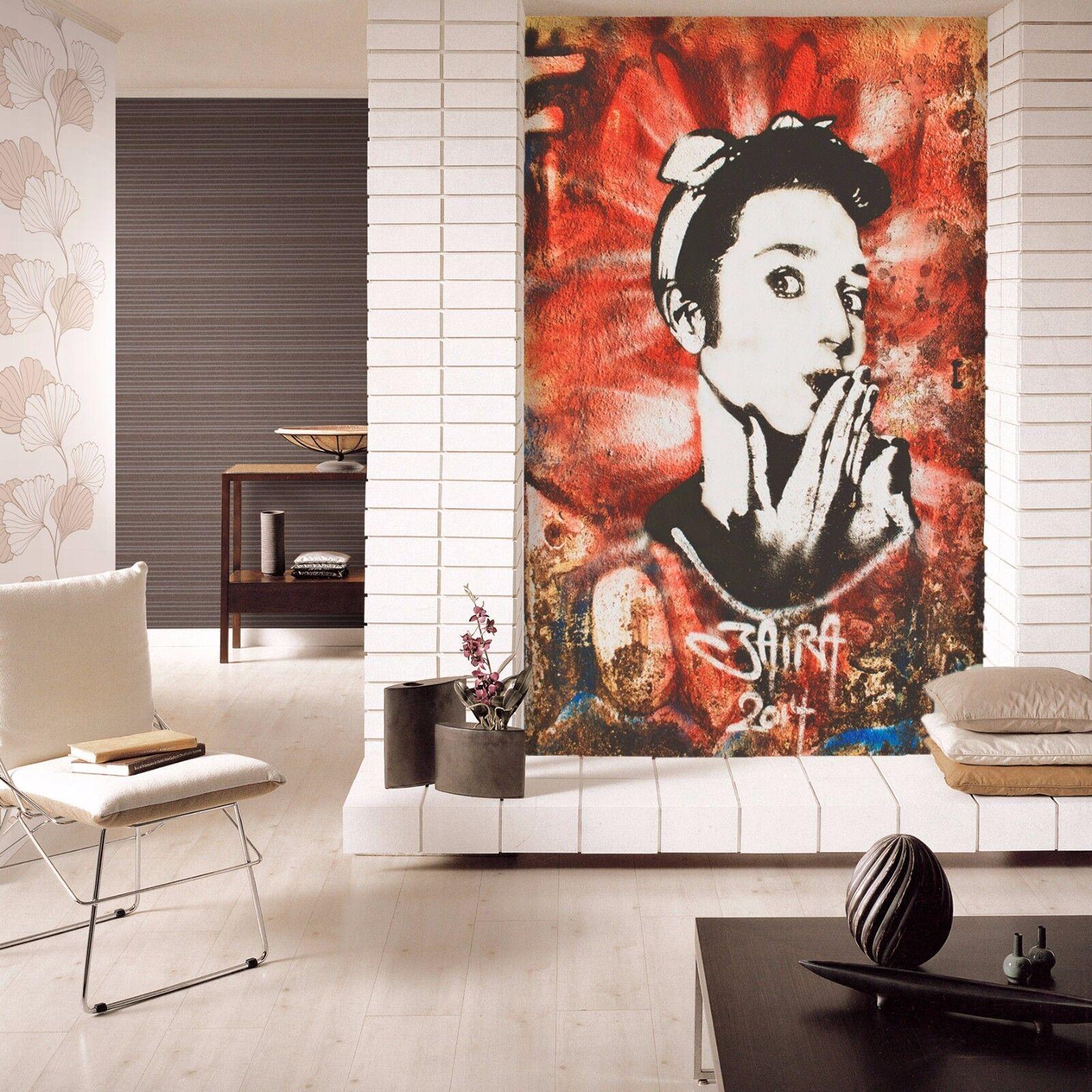 3D Girl Painted 51 Wallpaper Murals Wall Print Wallpaper Mural AJ WALLPAPER UK