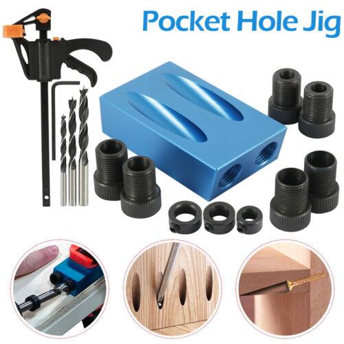 15X Silverline Pocket Hole Vis Jig Dowel Drill Sets OutilsJoint À Visser Clip G