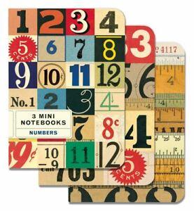 Cavallini-Set-Di-3-Mini-Quaderni-Numeri-Foderato-Vuoto-amp-Grafico