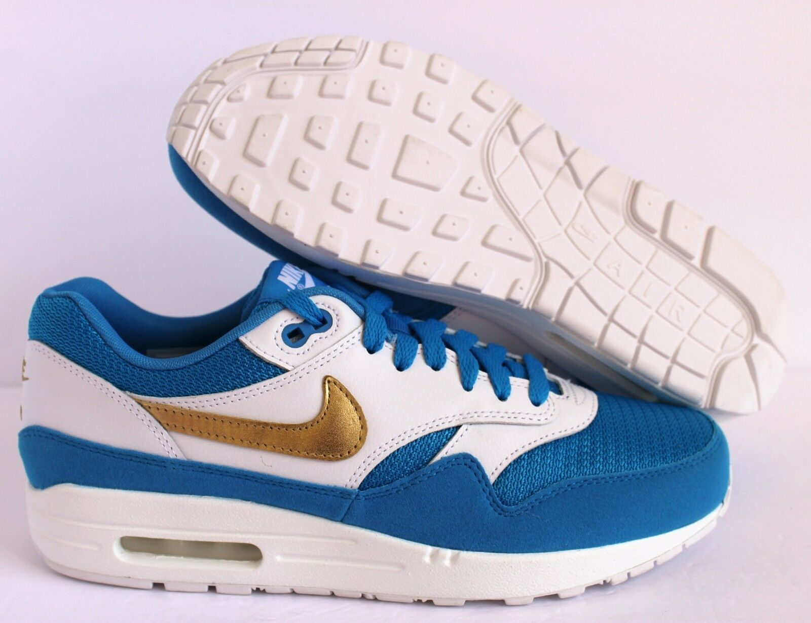 NIKE AIR MAX 1 ID WHITE-BLUE-GOLD Price reduction Comfortable and good-looking