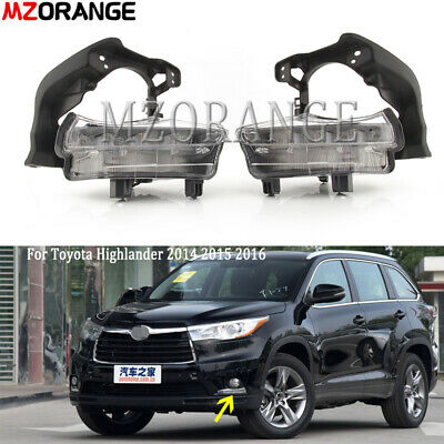 Pair DRL For Toyota Highlander 2014-2016 LED Daytime Running Light Fog Lamp