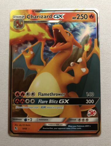 Charizard GX 9/68 Battle Academy Deck Stamp #60 Pokemon Holo Near Mint NM