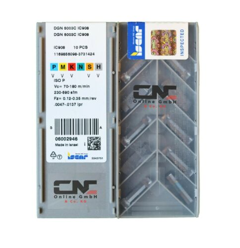 Indexable Inserts  DGN  5003C IC908   The listing is for 1 box Iscar