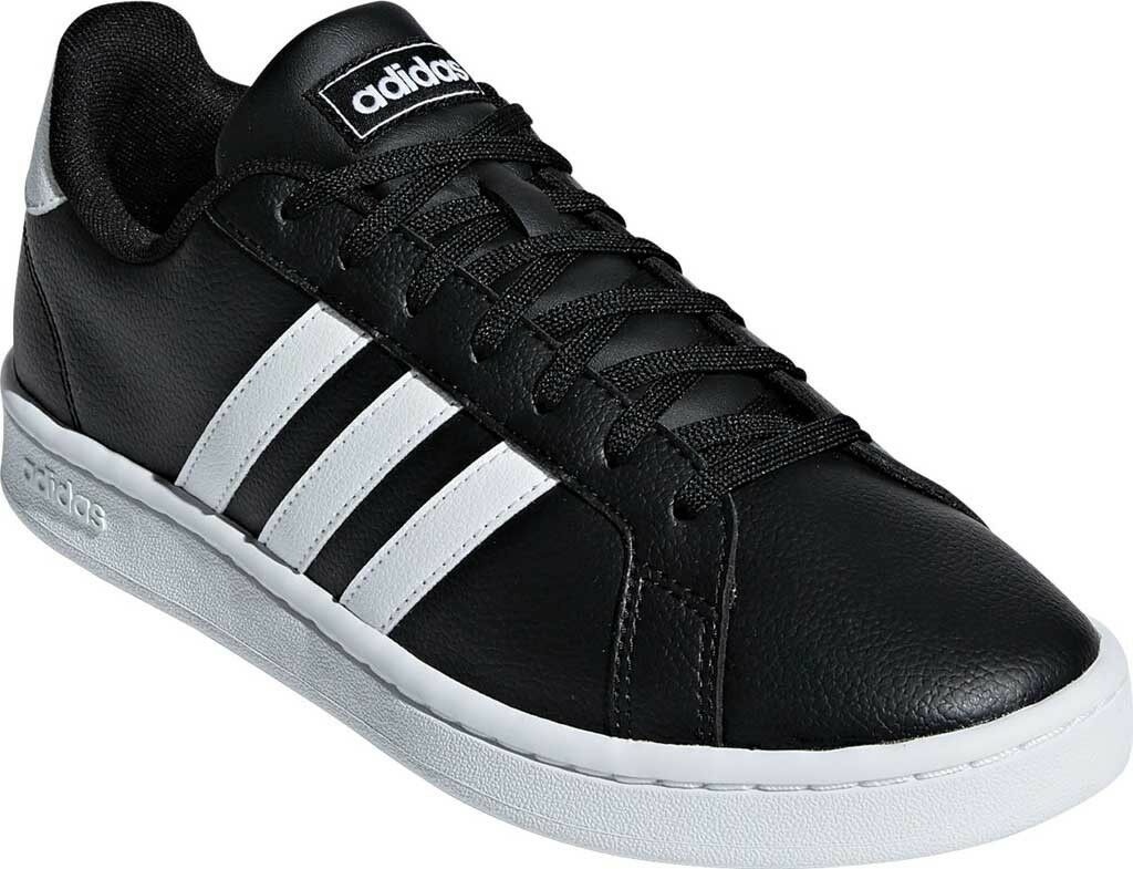 Adidas Grand Court Sneaker (Women's) in Core Black FTWR White Core Black