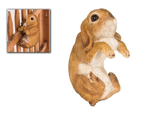 Zaunhocker lièvre bunny Zaunfigur dekoartion Jardin Sculpture Ferme Animal 37119