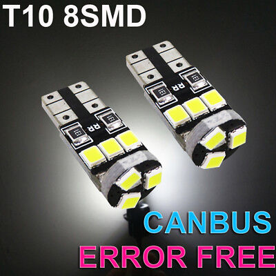 2x Mazda MX-5 MK3 NC Bright Xenon White 8SMD LED Canbus Number Plate Light Bulbs