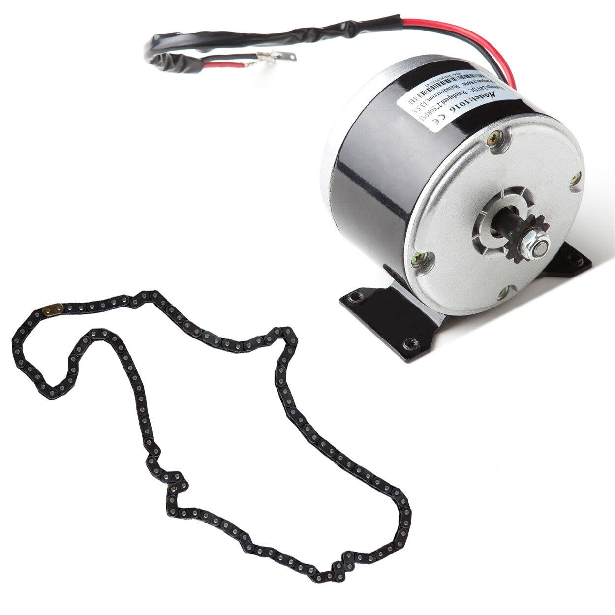 250 W 24 V DC electric 1016 motor+Chain f scooter Go-Kart minibike razor Drifter