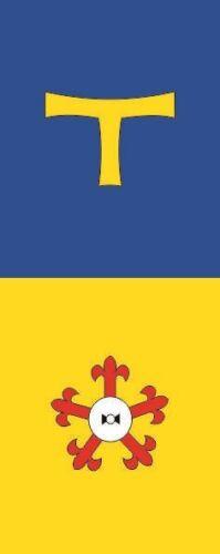 Fahne Flagge Bedburg-Hau im Hochformat verschiedene Größen