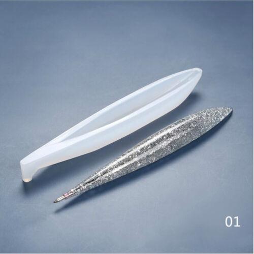 DIY Craft UV Epoxy Pen holder Silicone Molds Ballpoint Pen Mold Resin Mould