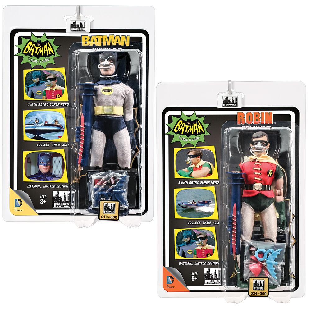 Batman 66 Classic TV Show Retro Style Figures  Set of 2 Deluxe Breather Variants