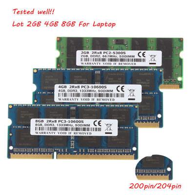 Crucial 2GB 4GB Intel Memory Desktop RAM DDR2 DDR3 667 800 1333 PC2 PC3 Lot @4H