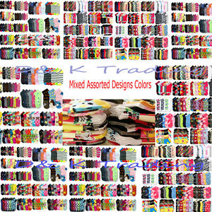 New 12~480 Women Mixed Assorted Designs Colors Ankle Low Cut Socks Wholesale Lots