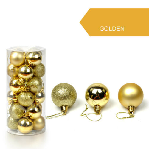 34PC 40mm Christmas Tree Balls Small Bauble Hanging Home Party Ornament Decor 9