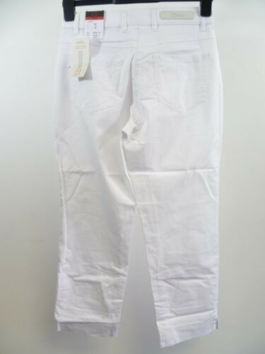 UK 14 Gerke mon pantalon Lori S pantalon raccourci Taille 42 Blanc RRP £ 42 Box44 17 D