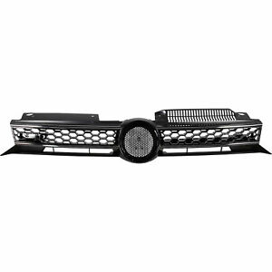 Sportgrill-Kuehlergrill-Grill-Waben-Design-GTI-Optik-VW-Golf-VI-6-Bj-08-13