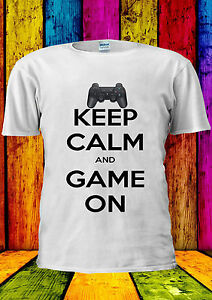 Keep Calm And Game On Playing T-shirt Vest Tank Top Men Women Unisex 2342