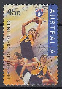Australia-francobollo-timbrato-45c-Centenary-of-the-AFL-Rugby-Sport-1996-240