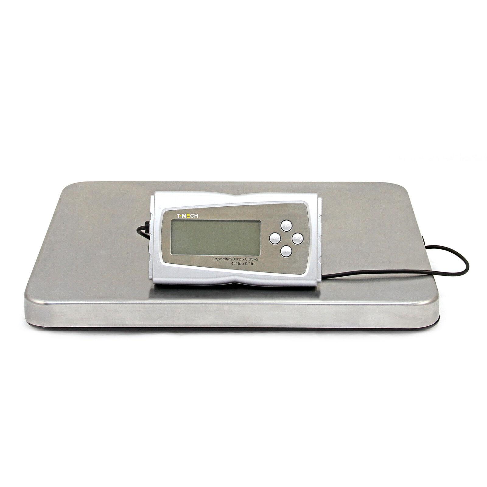 Bilancia Postale Elettrica 200kg in Acciaio 41x36cm per Pesare Prodotti Postali