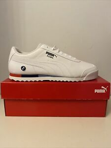 Men-s-Puma-Roma-BMW-Motorsport-Trainers-White-Size-10-5-UK-Brand-New