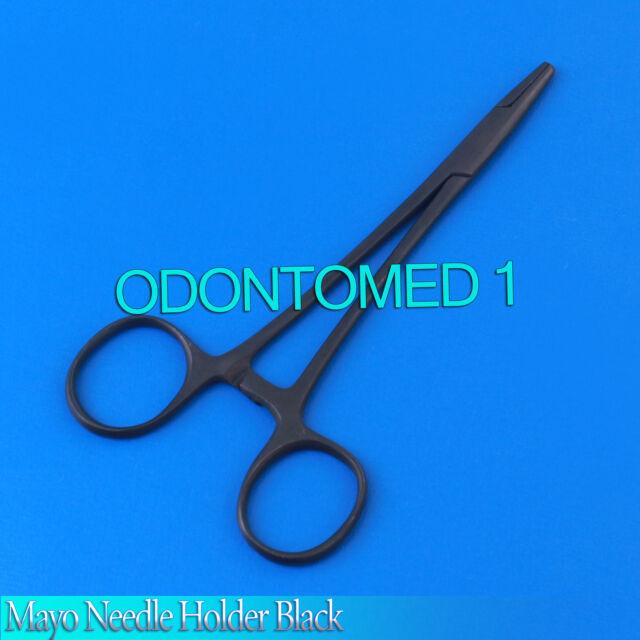 """3 Mayo Needle Holder 5.5"""" Black Surgical  Instruments"""