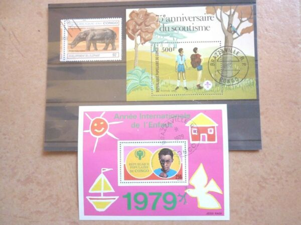 Collection Ici Congo (brazzaville) 2 Rues Et 1 Marque Estampillé De 1979/82/94 Mw 3,90 Euros Magasin En Ligne