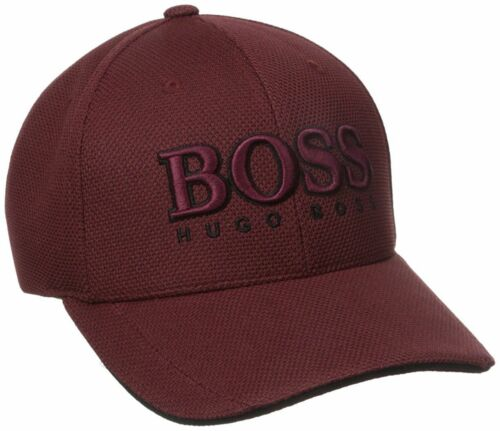 New Hugo Boss Men/'s Pique Logo Adjustable Trucker Sport Hat Cap 50251244