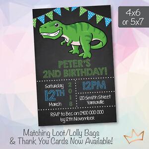 Image Is Loading Dinosaur Birthday Party Invitations Jurassic Park World Cute