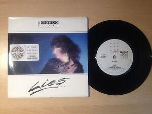 VINYL-SINGLE-7-INCH-RECORD-AMANDA-SCOTT-LIES-EXPERIENCE-1987-PICTURE-COVER