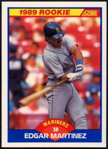Edgar Martinez Marinez #637 puntuación de 1989 Tarjeta de béisbol C380