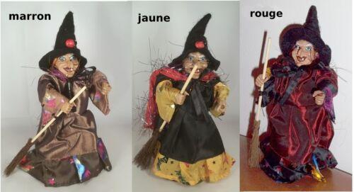belle sorcière 20 cm,collection, porte bonheur,3 couleurs au choix  **G28